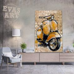 VESPA Vespa, Contemporary Art, Wasp, Hornet, Vespas, Modern Art, Contemporary Artwork