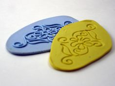 """Mold from Extruded Clay Pattern from Crafty Goat.  (""""I must try...bg)"""