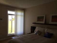Luminette Privacy Sheers partially opened Window Sheers, Window Wall, Curtains, Window Toppers, Hunter Douglas, Custom Windows, French Doors, Soft Fabrics, Patio