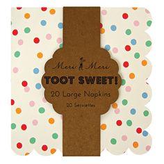"Papierservietten ""Toot Sweet spotty"""