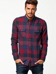 Jenkins Shirt - Minimum - Wine Red - Shirts (Men) - Clothing - Men - NlyMan.com Uk