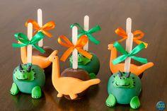 Maças Decoradas de Dinossauros