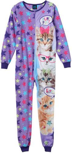 Jellifish Girls 4-16 Jellifish Animal One-Piece Pajamas These Girls 481f78f42