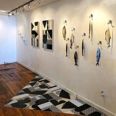 Another view of Go Fish at Pii Gallery. Inquiries about prices will go to Going Fishing, Screenprinting, Printmaking, Contemporary Art, Art Gallery, Photo Wall, Fine Art, Sculpture, Artist
