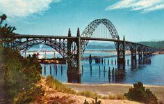 Yaquina Bay Bridge, Newport, Oregon 1950's