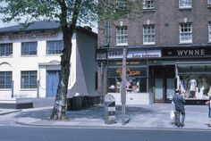 Milepost in Bow Road, 1970