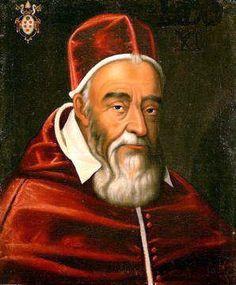 """""""Retrato do Papa Leão XI"""". (232º Papa). (Autor: Desconhecido). Nome: Alessandro Ottaviano de' Medici. (* Florença, 02/Junho/1535 - Roma, 27/Abril/1605)."""