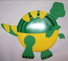 paper plate dinosaur craft | Here's another idea to make a dinosaur from a paper plate, this time ...