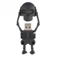 Black Skull USB Flash Drives