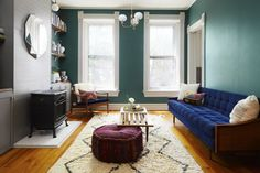 Dark color can open up a small space