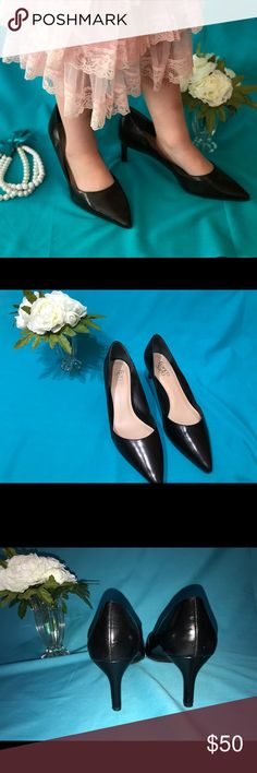 Franco Sarto Black Point Heels These are classy shoes! Goes great with any look! Dress pants for work, or a little black dress for a date! Franco Sarto Shoes Heels