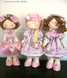 Muñequitas Doll Clothes Patterns, Doll Patterns, Doll Crafts, Sewing Crafts, Sewing Dolls, Waldorf Dolls, Doll Hair, Soft Dolls, Cute Dolls