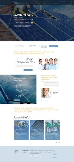 Website Theme , Green Tech