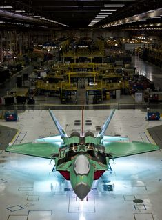 The final F-22 Raptor on the production line at Lockheed Martin's Marietta, Georgia plant, December 2011