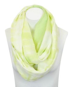 Look what I found on #zulily! Lime Tie-Dye Infinity Scarf #zulilyfinds