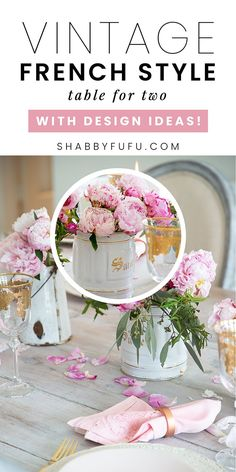 Setting a table for two is something that I've been doing a lot of these past few months! In this post I'm sharing a few tablescapes that might inspire you to make things special as well! #tablefortwo #tablescapes #tablesetting #summerentertaining #summertable #pinkpeonies