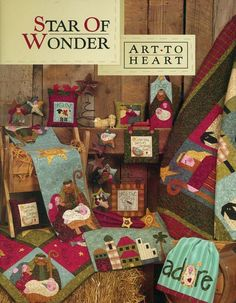 Star of Wonder Christmas Quilt Book Art to Heart Nancy Halvorsen Sheep Embroider #ArttoHeart