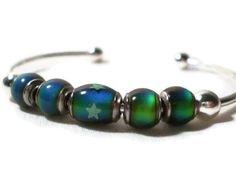 Mood Bead Cuff Bracelet with glow-in-the-dark stars, via Etsy.