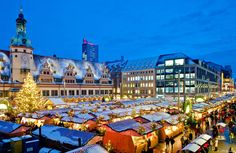 The festive Christmas Market in front of Leipzig's Old City Hall #joingermantradition Enter the #InspiredBy Pinterest Contest for your chance to win a trip to Germany!