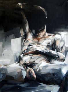 "Andrew Salgado; Oil, 2011, Painting ""Schwarzkopf / Curse Your Little Heart"""