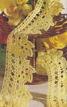 Yellow lace with diagram