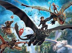 100-drachenzähmen fácil 2-puzzle mapa-Dragons 3-el mundo secreta
