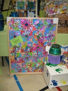 recycled...wrapping paper, colored cups, pipe cleaners...