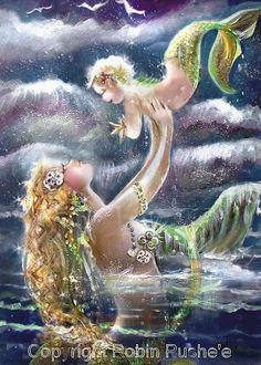 Mermaid and her baby. <3