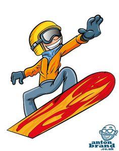 February 10 2014 Cartoon illustration of cartoon snowboarder jumping | Flickr - Photo Sharing!