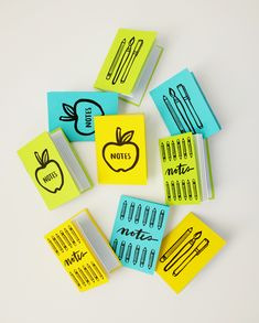Printable Back to School Mini Notebooks | Oh Happy Day!