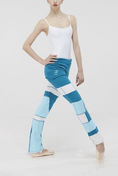 SYRMA - Eye-catching patchwork design that offers extreme comfort and stretch. These fold-over boot-cut pants are perfect from street to studio. Yoga Wear, Dance Wear, Ballet Wear, Fold Over Boots, Dance Accessories, Dance Pants, Ballet Costumes, Dance Leotards, Patchwork Designs
