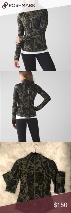 6943c6f04c2f7 Lululemon Define Jacket (NO LONGER SOLD) Fatigue green print no longer  sold, brand new, excellent condition. Bought wrong size so am selling. No  pilling.