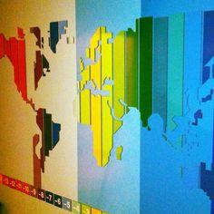 Map at Al Jazeera children's channel - Doha