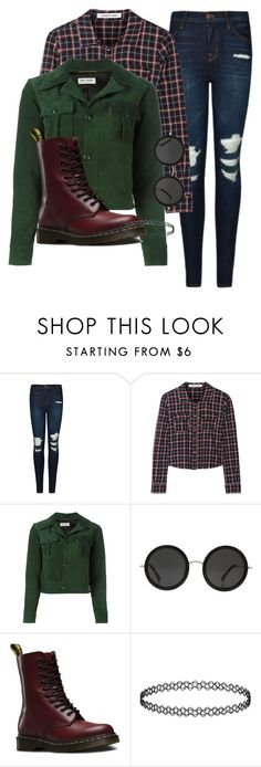 """""""Fall looks 🍁"""" by triceyfashion on Polyvore featuring J Brand, Elizabeth and James, Yves Saint Laurent, The Row, Dr. Martens and Topshop"""
