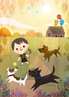 Go Fetch Print by Joey Chou