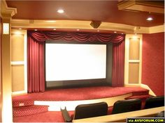 The Palace Home Theater by Chris Armbruster.  Located in Allentown, PA.  My second theater. Proscenium view.