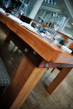 Railway Sleeper Table - contemporary - dining tables - london - Hazellwood Bespoke Creations