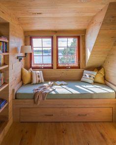 Rustic bedroom reading nook by Holmes Hole Builders is definitely my favorite
