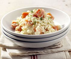 Kürbis-Risotto Junk Food, Fried Rice, Gluten Free Recipes, Potato Salad, Food And Drink, Healthy, Ethnic Recipes, Bb, Nice