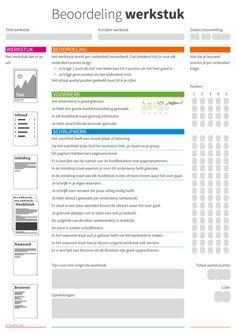 beoordeling-werkstuk School Plan, I School, School Classroom, Primary Education, Kids Education, Childhood Education, Teaching Boys, 21st Century Skills, Skills To Learn
