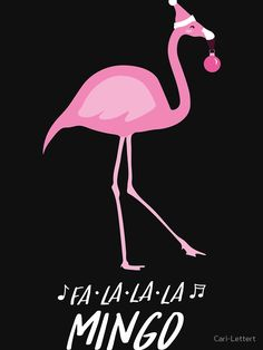 Flamingo Puns, Flamingo Craft, Pink Flamingos, Christmas In July, Pink Christmas, All Things Christmas, Beach Christmas, Christmas Labels, Christmas Shirts