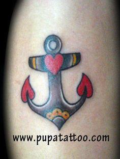 Tatuaje ancla pupa tattoo Granada