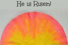Easter Sunrise Craft for Kids - Parent Teach Play Easter Activities For Preschool, Easter Crafts For Kids, Toddler Crafts, Nursery Activities, Easter Stuff, Preschool Art, Toddler Bible Lessons, Classroom Crafts, Classroom Ideas