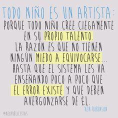 Todo niño niño es un artista: