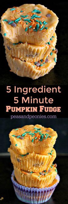 5 ingredient 5 minute pumokin fudge PIN56