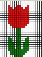 Grid Art activity from Making Learning Fun. - Grid Art activity from Making Learning Fun. Pearler Bead Patterns, Perler Patterns, Loom Patterns, Beading Patterns, Cross Stitch Patterns, Tiny Cross Stitch, Simple Cross Stitch, Cross Stitch Flowers, Pixel Art Templates