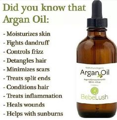I have used Argan Oil for about a year now and recommend it to anyone. I put it on my hair before I flat Iron it and it's shiny, so soft, unfrizzy, and undamaged, and on my hair when it's curly and it takes the frizz out...I put it on my face morning and night...I put it on my hands and nails and lips. I didn't know it helped heal wounds and sunburns but that totally makes sense!