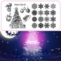 Christmas tree and snow design nail art template image stamp plate 1pcs packed by opp bag major 20 #>=#>=#>=#>=#> Click on the pin to check out discount price, color, size, shipping, etc. Save and like it!