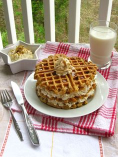 Carrot Cake Waffles, featured by Redbook