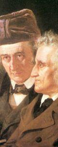 diese zwei Personen sind die Brüder Grimm